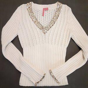 CHARLOTTE Sweater Gold Metallic Sequins